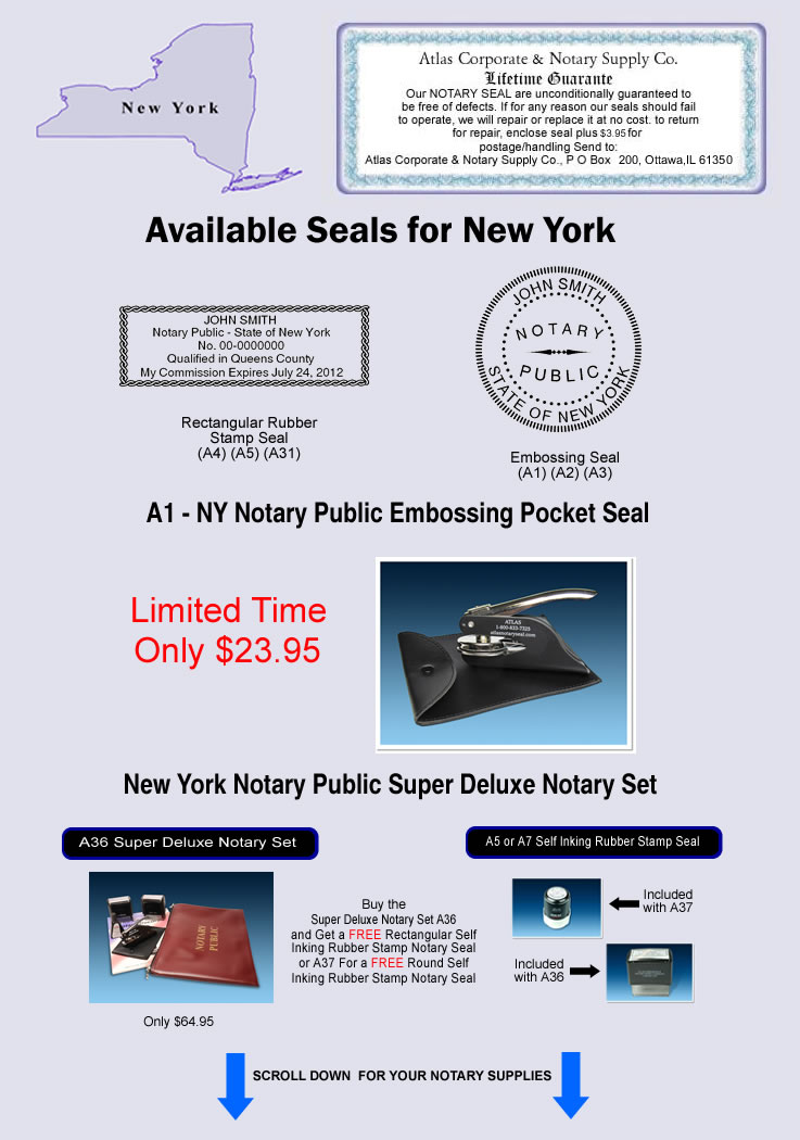New York Notary Seals Notary Stamps Notary Supplies