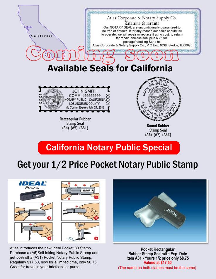 California Notary Supply | California Notary Seals ...