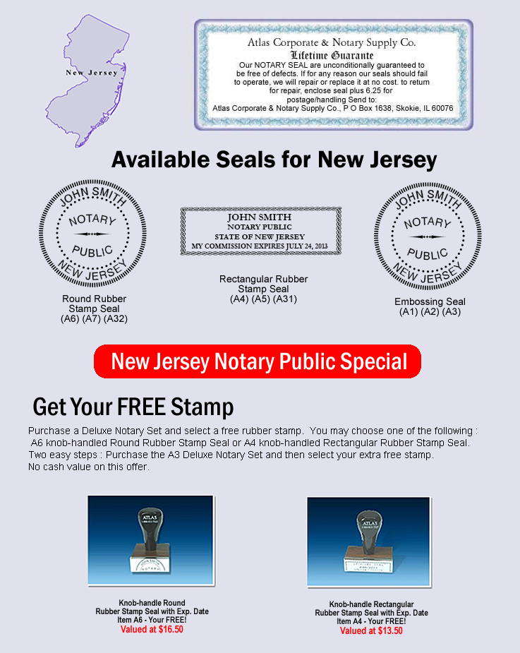 Click Here To Shop Online For New Jersey Notary Seals