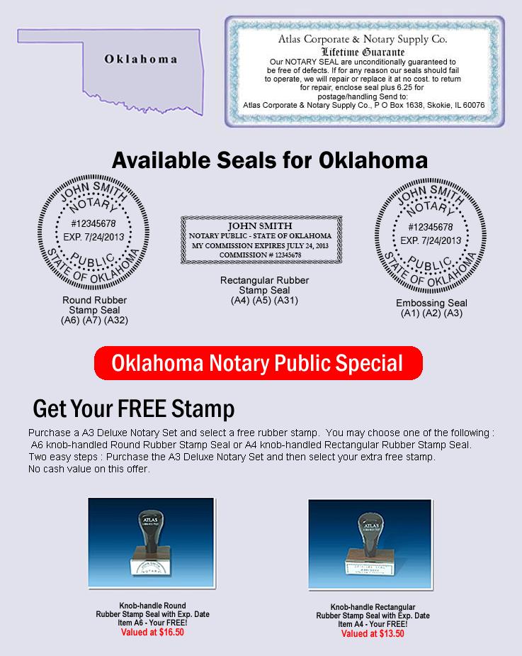 Oklahoma Notary Seal | Oklahoma Notary Seals | Oklahoma ...