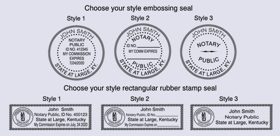 Choose Your Style Rectangular Rubber Stamp Seal