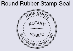 MD Round Rubber stamp