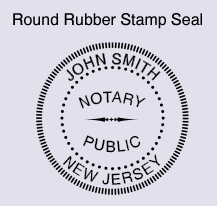 Enter Your Name As It Appears On Notary Commission Required Round Pocket Stamp