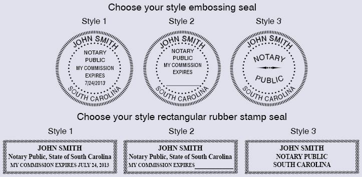 A36 Sc Super Deluxe Notary Public Set With Rectangular
